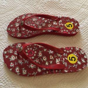 Coach Silver Logo Abbigail  Flip Flop Sandals 5B